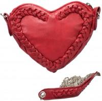 Vorschau: Trachten Herztasche Kunstleder rot
