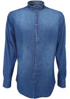 Trachtenhemd Varys Jeans Stehkragen