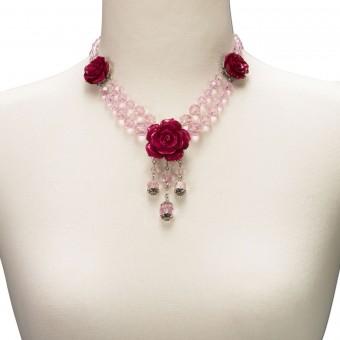 Perlenkette Jolina pink