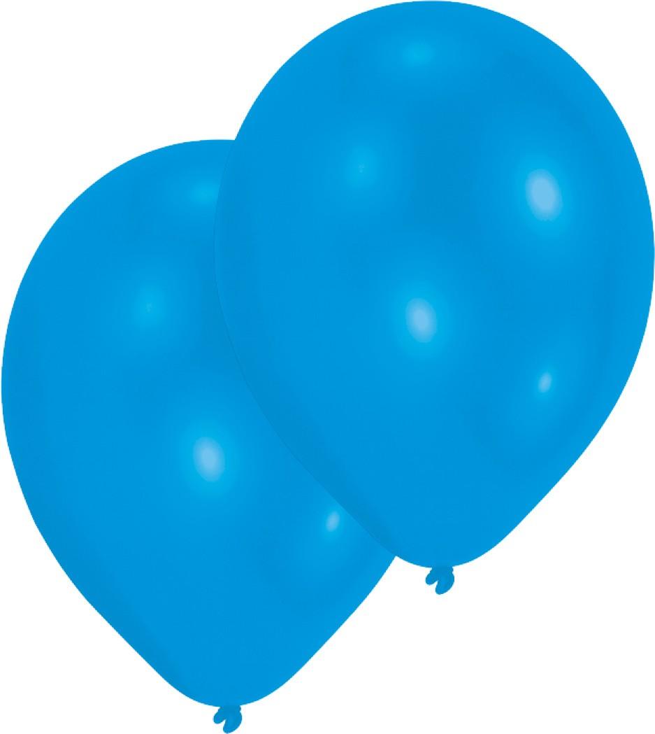 10 blauwe latexballonnen 27,5cm