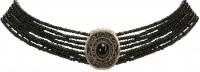 Vorschau: Perlenkropfkette Alice schwarz