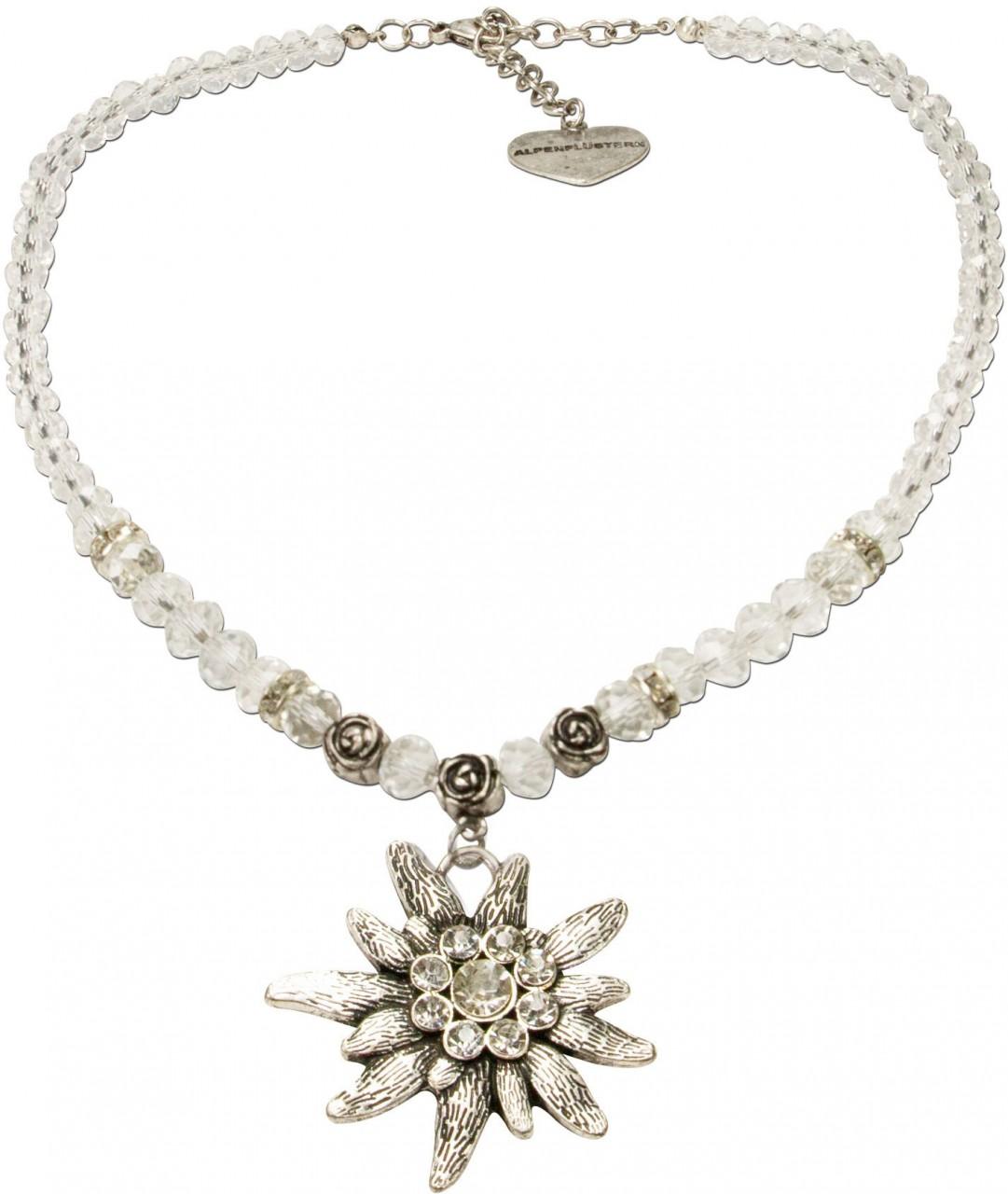 Trachten necklace big edelweiss nature