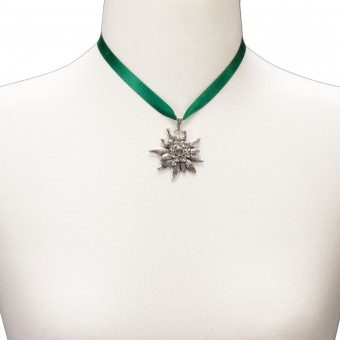 Satin Necklace Marlene, Green