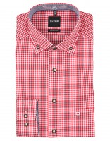 Preview: Trachten Shirt Olymp, red-white checked