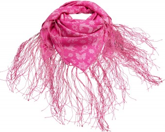 Fransen-Trachtentuch Waldliebe pink
