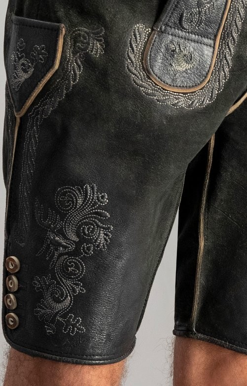 Lederhose Thomas in graphite