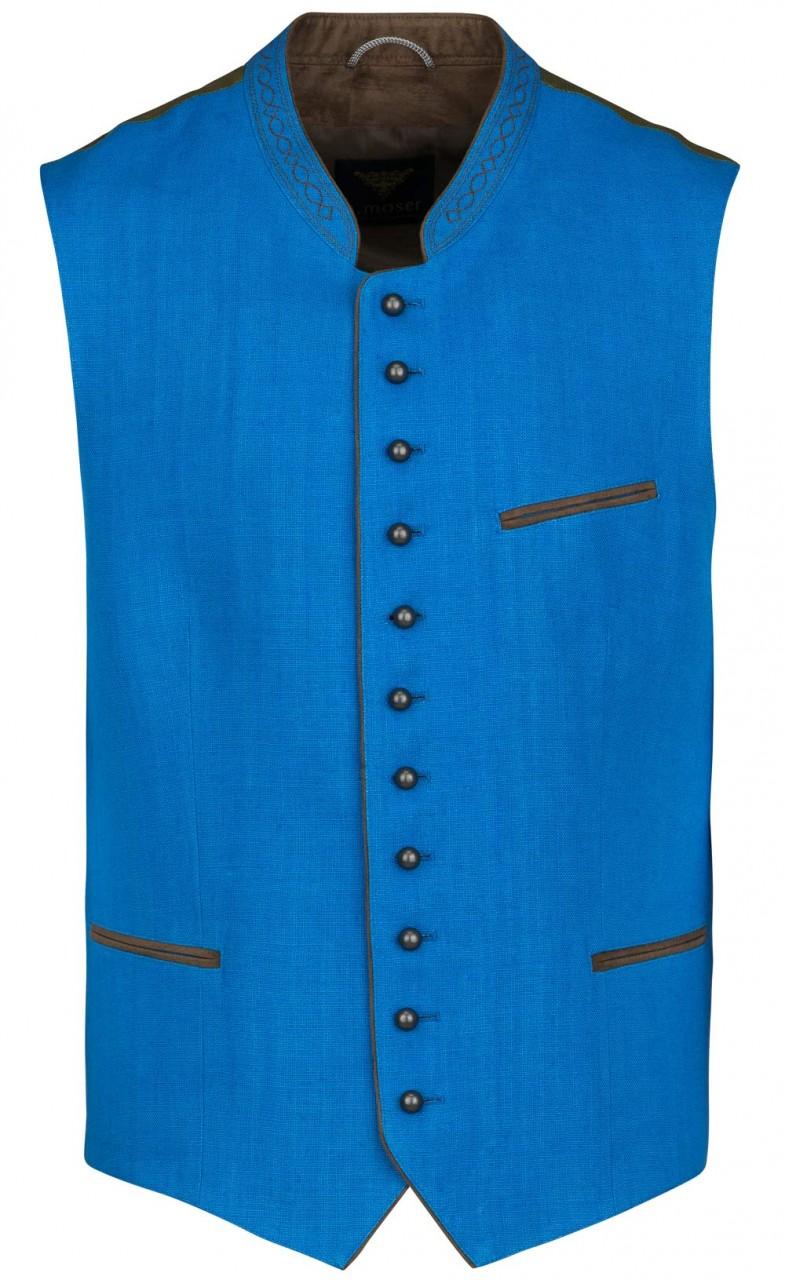 Herrenweste Lemberg blau