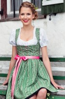 Evelyn green mini dirndl with heart