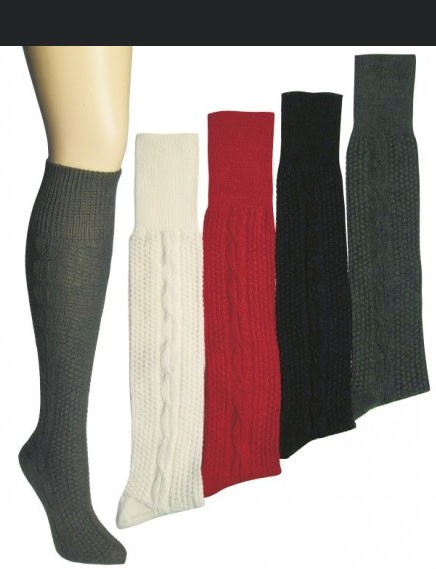 Chaussettes de Trachten montantes anthracite