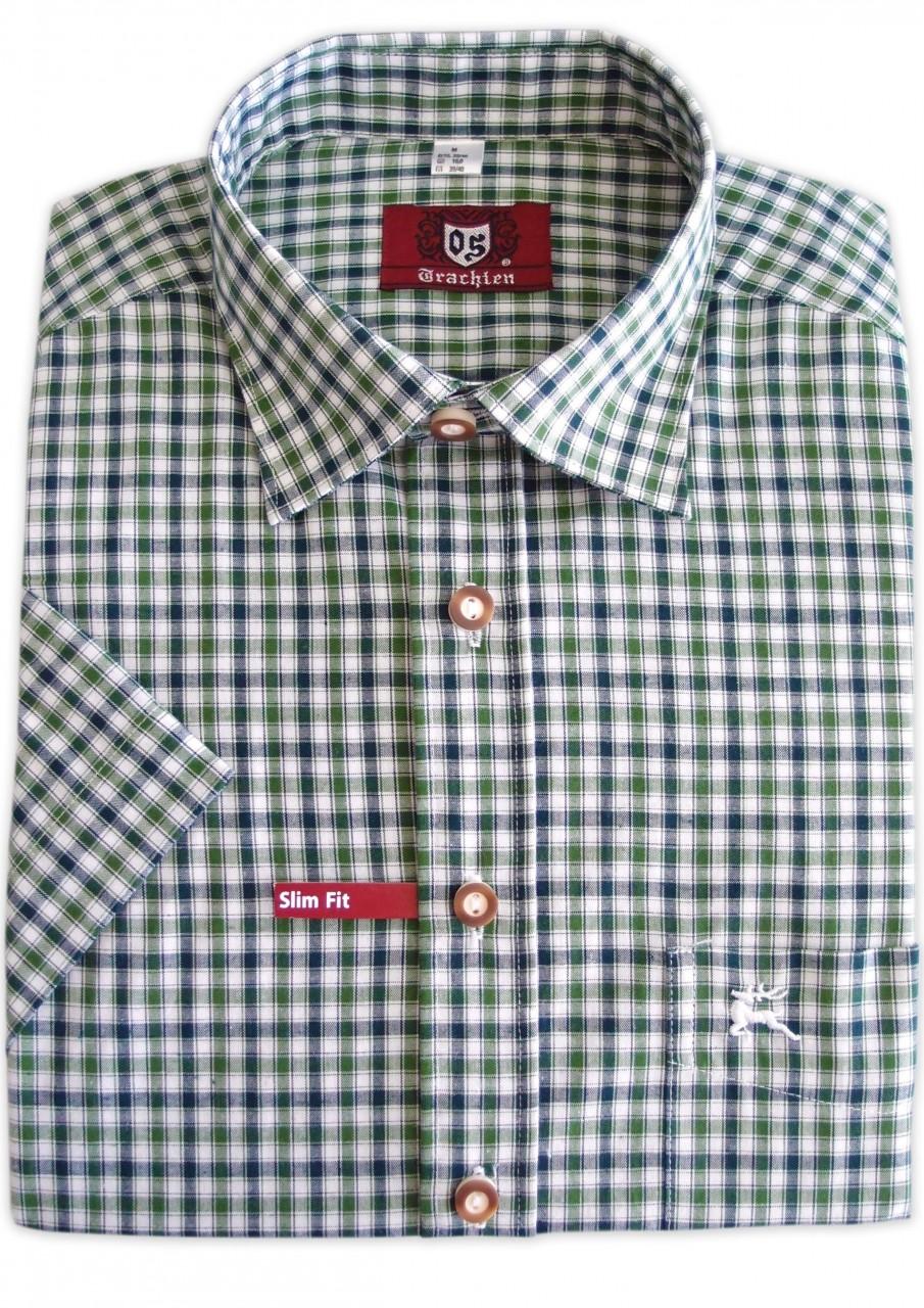 Heren shirt Fidl marine-groen