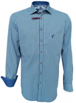Trachtenhemd Theon blau