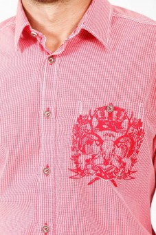 Trachtenhemd Lio rot