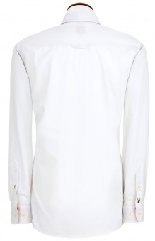 Herrenhemd Askot weiß-rot
