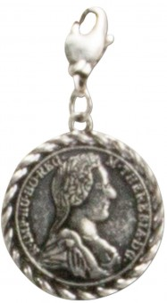 Trachten Coin Pendant, Antique Silver