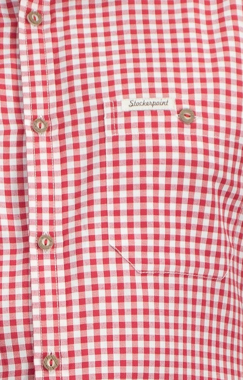 Traditioneel shirt Campos in rood