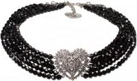 Vorschau: Perlen-Collier Eugenie schwarz