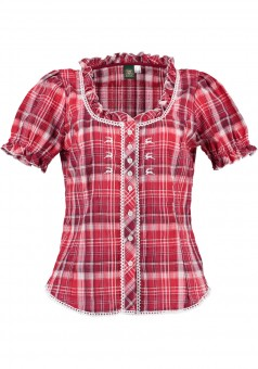 Ladies blouse Brigitte red