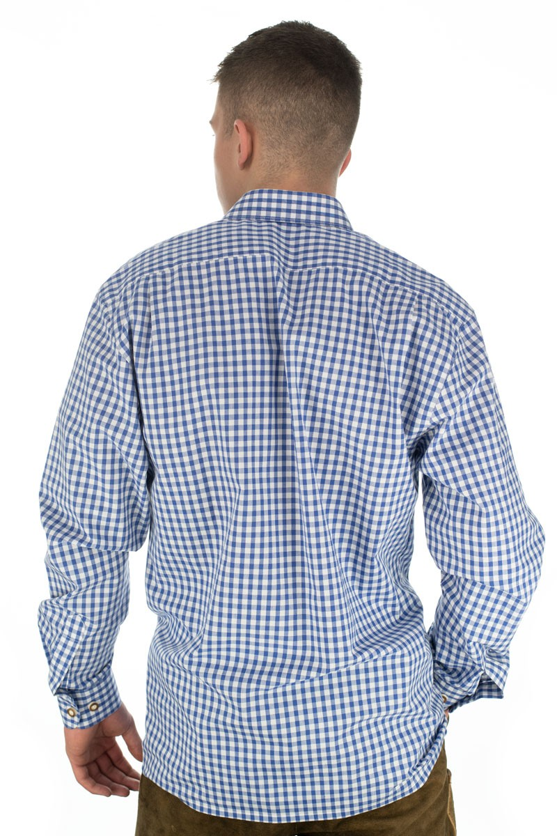 Trachtenhemd Bertl dunkelblau-kariert