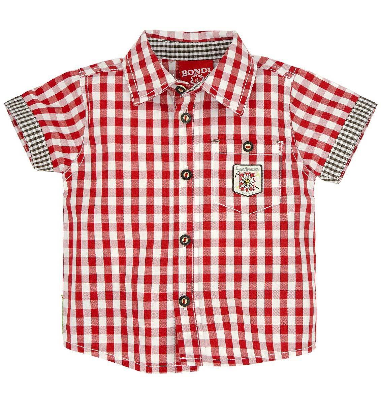 Geruit hemd 'Gipfelkraxler' rood-wit