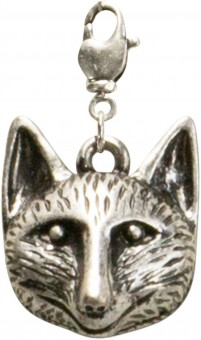 Trachten Fox Pendant, Antique Silver
