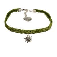 Vorschau: Borten-Kropfband Marlene grün