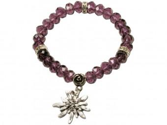 Trachten Perlenarmband Fiona Crystal lila