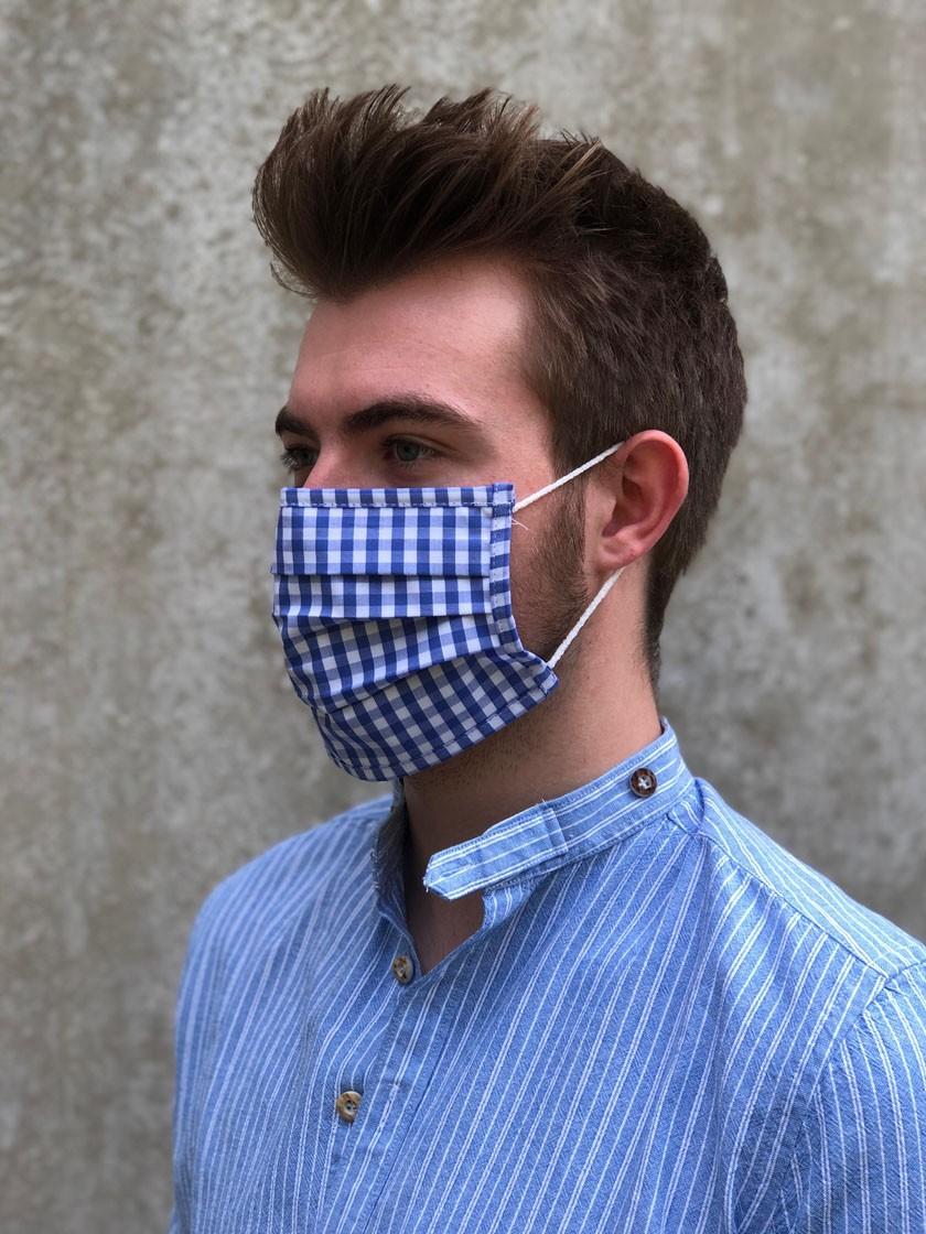 Mund-Nasen-Maske Lilli blau