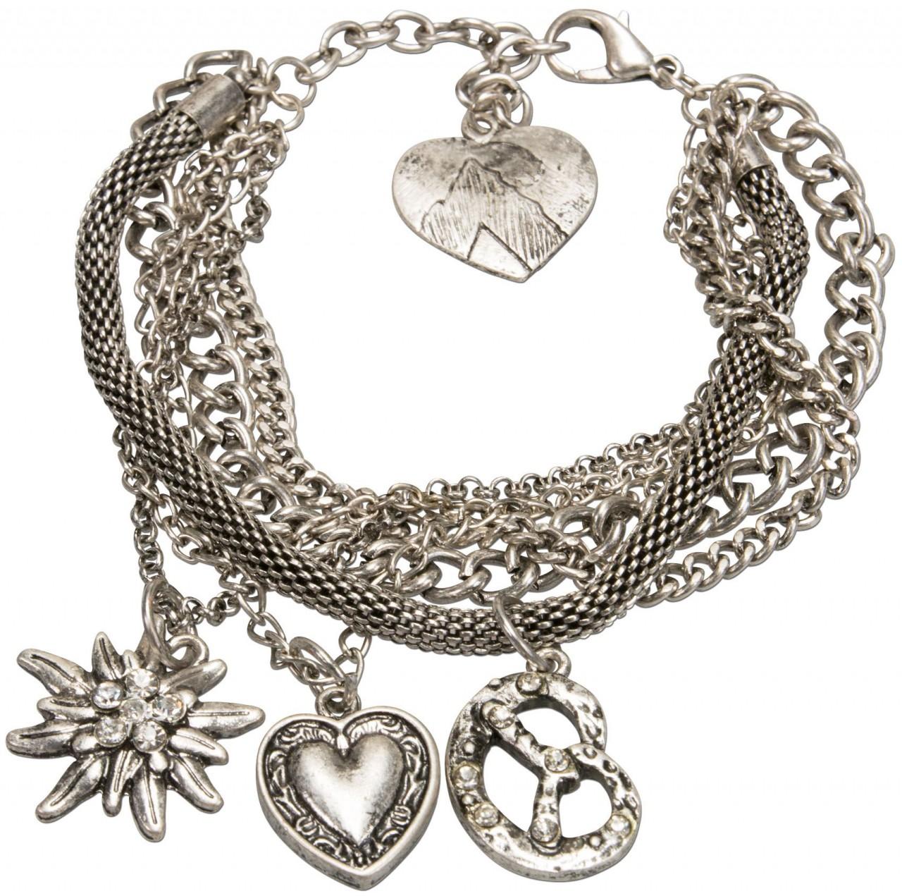 Traditionele armband Mathilde antiek zilver