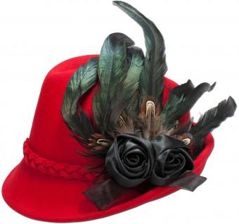Filcowa czapka Rosalie czerwona