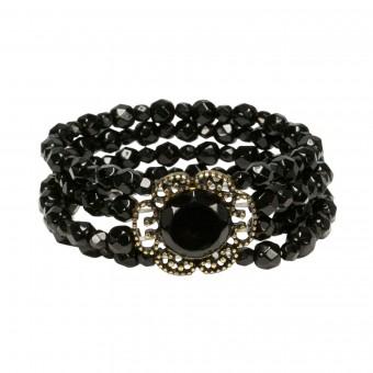 Pearl Bracelet Ellie, Black