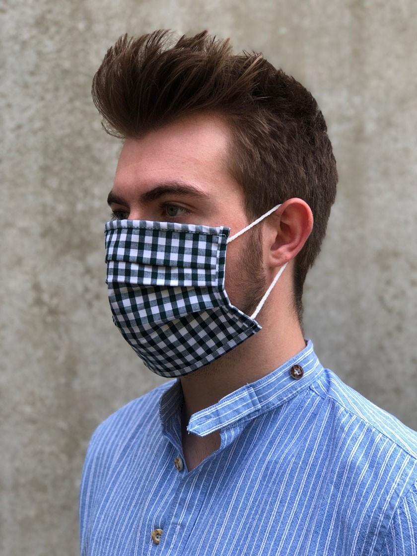 Mund-Nasen-Maske Olli schwarz