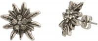 Mini-Trachten-Ohrstecker Edelweiß silber