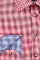 Vorschau: Herrenhemd Wiggerl rot-hellbau