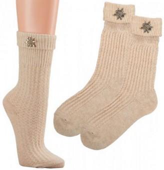 Dirndl Socks with Edelweiß Emblem
