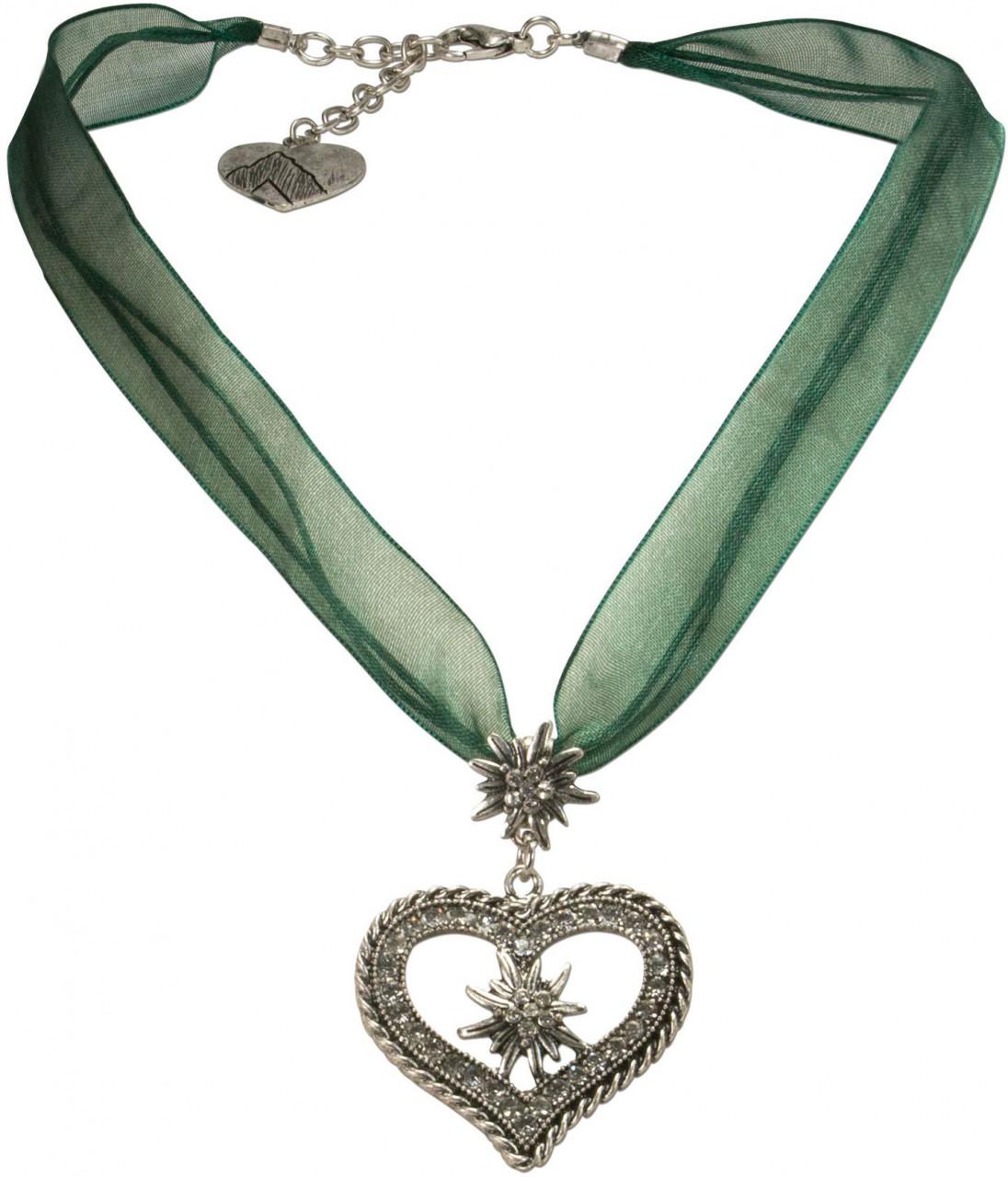 Organza Trachtenkette Maria grün