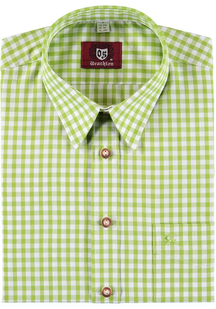 Heren shirt Konrad grasgroen