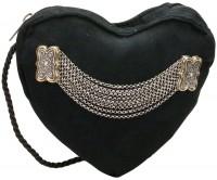 Herztasche schwarz Trachtentasche