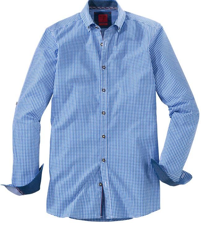 Olymp Shirt Traditioneel shirt blauw / wit