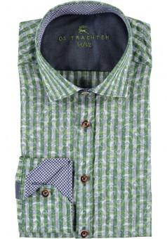 Herrenhemd Anian grün