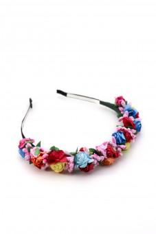 Haarreif mit bunten Blüten