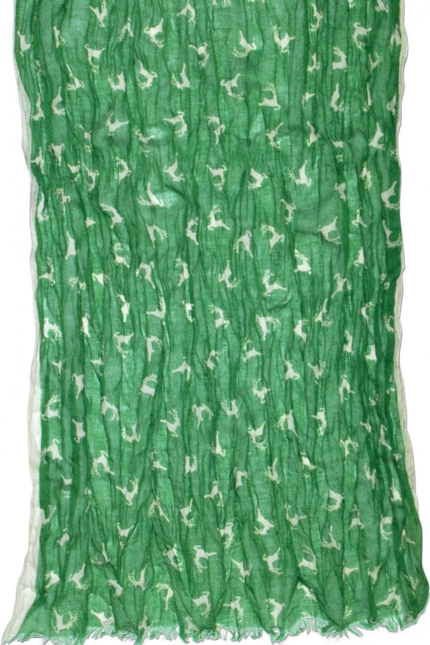 Tradycyjny szalik skaczący na jelenie zielone