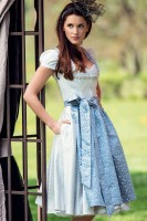Preview: Dirndl Talisa, blue-grey