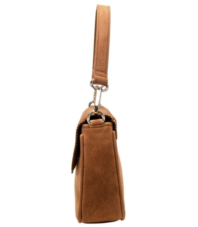 Trachtentasche mit Verzierung cognac