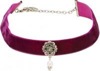 Vorschau: Trachten Kropfband mit Ornament lila