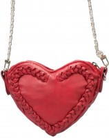 Vorschau: Herztasche Trachtentasche rot Kunstleder