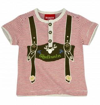 T-Shirt geringelt mit Knopfleiste