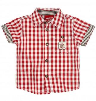 """Koszula w kratę """"Gipfelkraxler"""" czerwono-biała"""