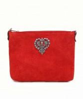 Vorschau: Wildledertasche Herz rot
