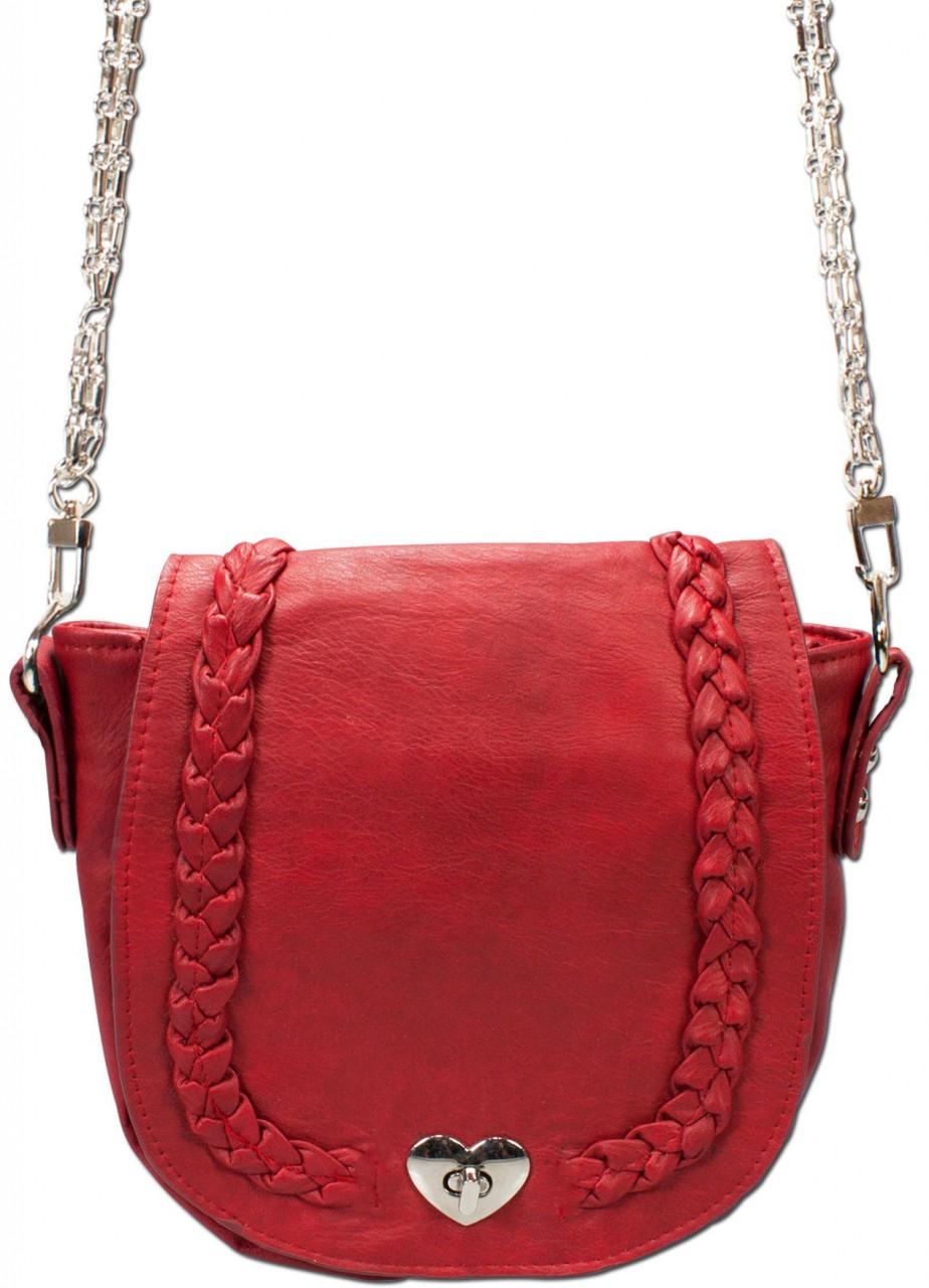 Trachten Satteltasche rot