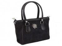 Vorschau: Mini Handtasche Edelweiß schwarz
